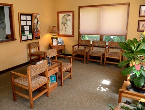 Harleman Dentistry lobby area for a relaxing moment before your appointment. Serving the Pocono region and nearby locations for over 20 years with excellent service.